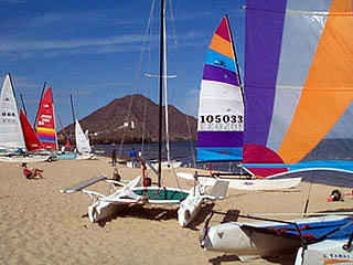 Playa de Oro Sail Boat Beach Baja Recreation